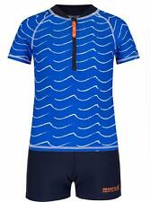 Regatta Wader Kids UV Swim Set Rash Vest & Shorts Girls Boys Oxford Blue/navy 24 - 36 Months