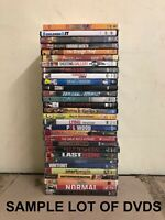 WHOLESALE LOT OF 30 DVDs - Mixed Assorted Variety - No Duplicates - Resale