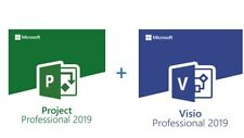 INSTANT 5PC - 2019 Microsoft Visio Pro+ Project Pro RETAIL+ Download Link!