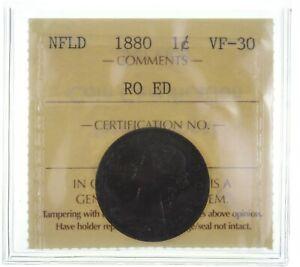 1880 Newfoundland 1 Cent - RO ED *2510
