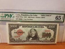 specimen 1000 peso CUb scare PMG 65