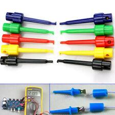 10pcs Lead Wire Test Hook Clip Grabber Test Probe SMT/SMD Kit For Multimeter *#