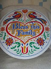 """CONESTOGA CRAFTS Hex Sign, 15"""" Bless This Family"""