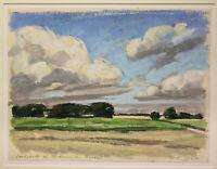 "Eisenfeld, Ulrich - Pastell ""Landschaft bei Niehagen am Bodden"" 2001 Kunst sf"