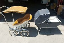Vintage Babyhood Baby Carriage Buggy Stroller By Wonda Chair Complete Set