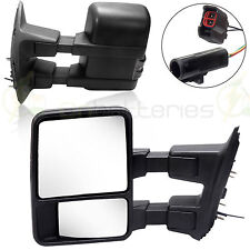 Side Mirror Power Heated Towing Mirrors Pair For 99-02 Ford F250 F350 F450 F550