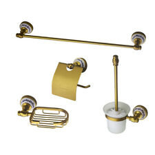 Bathroom Soap Dish/ Towel Shelf Rack/Roll Paper Holder Wall Mounted Brushed Gold