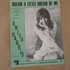 song sheet DREAM A LITTLE DREAM OF ME, anita Harris