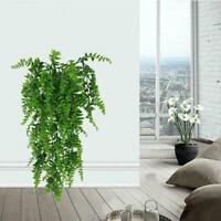 Green Artificial Fake Flower Vine Hanging Garland Plant H2C6 Garden Decor Q2X9