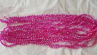 Joblot 10 strings (1200 beads) 4 mm Hot pink AB bicone Crystal beads new
