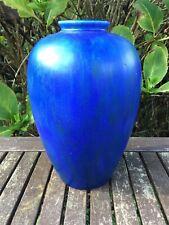 """Vintage Clews Chameleon Ware Streaky Blue 10"""" Vase"""