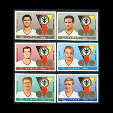 Ajman, MI #362-67, MNH, 1969, Famous Athletes, German Football, CL84F