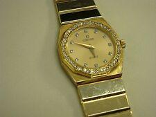 14k yellow gold ladies diamond concord watch diamond dial diamond bazel