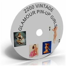 2200 Vintage Glamour Pin Up Girls Pictures Images,Historic photo CD collection