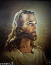Jesus/Christ/Vintage Religious painting/ Portrait of Jesus/17x22 Reproduction