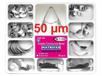 36pcs Dental Saddle Contoured Metal Matrices Matrix with Springclip TOR VM 50mk