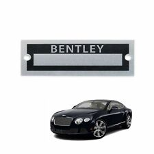 Bentley Name Plate Serial Data Tag Crewe Vickers Derby Mulsanne Brooklands RL