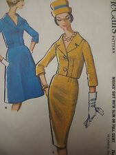 Vintage 1960's McCall's 5965 TWO-PC SUIT JACKET SKIRT Sewing Pattern Women Sz 12