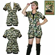 Sexy Army Military Womens Soldier Camouflage Ladies Outfit Fancy Dress Costume