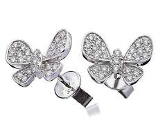 Butterfly Unbranded White Gold 18Carat Fine Earrings
