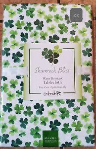 Shamrock Bliss Tablecloth 60 X 84 Green Clovers St.PAtricks Day Green