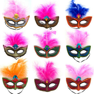 New Feather Soft Mardi Masquerade Carnival Ball Eye Mask Women Men Fancy Dress