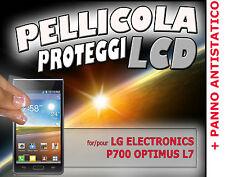 5x Pellicola protezione siliocone LCD per LG ELECTRONICS P700 OPTIMUS L7 + panno