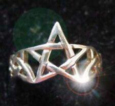 LOOK Celtic Pentagram Ring Infinity knot Sterling silver 925
