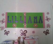 Your own personalized, Kids decor, name banner. This is what i did for my baby!