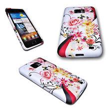 Design Rose Silikon TPU Cover + Displayschutzfolie für Samsung I9100 Galaxy S2