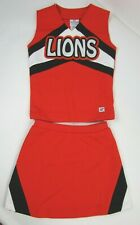 "Neu Cheerleader Uniform Lions Cheer Outfit Kostüm 32 "" Top Elastischer Bund Rock"