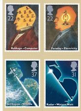 Royal Mail Stamp Postcards PHQ 133 Scientific Achievements 1991 Complete