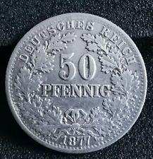 50 Reichs PFENNIG Stück 1877 E Deutsches Reich Kaiserreich Silber Münze