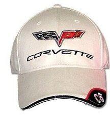 C6 Corvette Bone Brushed Cotton Hat with Brim Emblem