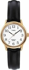 Timex T20433, Women's Easy Reader, Black Leather Watch, Indiglo, 25MM Case