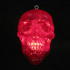 """Lighted Red Crystal Human Skull Haunted House Halloween Party Prop 6"""""""