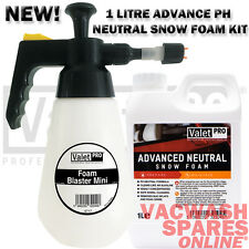 VALETPRO SNOW FOAM BLASTER MINI 1.5L & 1L ADVANCE NEUTRAL FOAM CAR FOAM SPRAYER