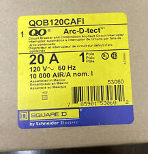 New Circuit Breaker Square D Qob120Cafi 1 Pole 20 Amp Bolt On Lot Of 3