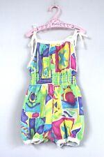 Girls Romper Sunsuit Vintage 1980s Bubble Butt Size 4T + VTG Bambi Pink Hanger