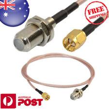 Pro 3ft F Female Jack Nut Bulkhead to SMA Male RF Coax RG316 WiFi Cable Z587AF