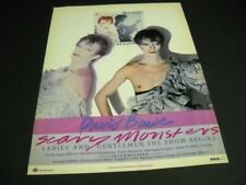 DAVID BOWIE Ladies And Gentlemen...SCARY MONSTERS original 1980 PROMO POSTER AD