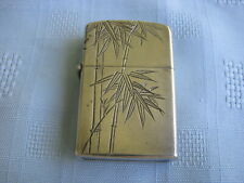 Vintage Sterling Silver Lighter with Fancy Bamboo Engravings, Brand Z Style