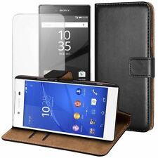 For Sony Xperia Z5 Magnetic Wallet Flip Case Cover + FREE Screen Protector