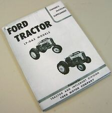 FORD 601 701 801 901 SERIES LP GAS TRACTOR OPERATOR OWNERS MANUAL SUPPLEMENT LPG