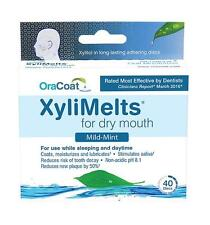 4 Boxes of XyliMelts for Dry Mouth, Mild-Mint 160 Discs TOTAL!!!