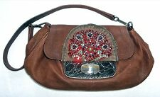 PRADA Antic Skipper Brown Goat Skin Purse Bag Auth Retail $2200 Women BR2801