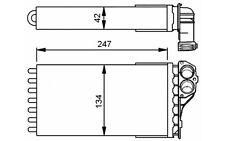 NRF Radiador de calefacción PEUGEOT 307 53557
