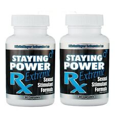 BEST SEXUAL SEX PERFORMANCE STAMINA ENHANCEMENT PILL - STAYING POWER EXTREME x2