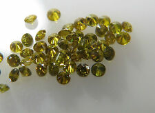 1-1.1mm 0.06cts 10pc Green Yellow SI Clarity Natural Loose Brilliant Cut Diamond