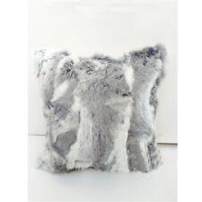 100% Luxury Real Nature Handmade Rabbit Fur Pillowcase Cover Pillow 45 x 45cm